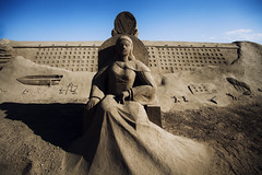 The Empress (ErdenizS) Tags: sculpture canon eos sand antalya 5d mkii