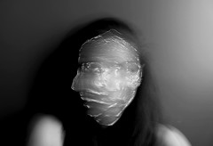Plastic (YasmineBoumaiz) Tags: face portraits self golf photography plastic odd portraiture conceptual