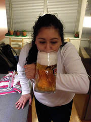 Drinking beer like a pro (baruchova) Tags: home beer oktoberfest krug sofiabaruch 1litter