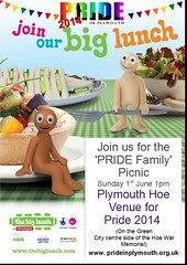 "pride-big-lunch-2014-1<br /><span style=""font-size:0.8em;"">Pride in Plymouth are organising a 'Pride Family' picnic as part of the National Big Lunch which is an Eden Project funded by the Heritage Lottery Fund.<br /><br />The Plymouth Pride Picnic will take place on Sunday 1st June from 1pm on Sunday 1st June 2014.</span> • <a style=""font-size:0.8em;"" href=""http://www.flickr.com/photos/66700933@N06/14113816887/"" target=""_blank"">View on Flickr</a>"