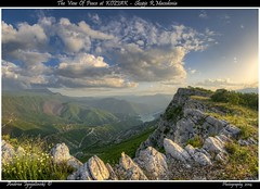 Kozjak View (Andrea Ignjatovski ) Tags: sky sun lake green nature water clouds landscape nikon rocks colours view may beaty macedonia hdr hec skopje lakescape d90 kozjak    androsce