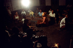 25-621 (ndpa / s. lundeen, archivist) Tags: people bali color men film musicians night 35mm dark indonesia temple dance sitting drum traditional nick ceremony culture nighttime 25 southpacific ritual tradition 1970s instruments hindu 1972 seated indonesian underexposed musicalinstruments balinese dewolf oceania pacificislands nickdewolf photographbynickdewolf dancedrama pacificislandculture reel25
