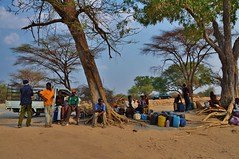 Waiting at the border crossing... (stevelamb007) Tags: people river nikon crossing border zimbabwe botswana namibia chobe zambia zambesi 18200mm d90 stevelamb