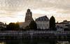 Soirée au bord de la Charente (RomainBihore) Tags: sunset canon eos rebel soleil ciel maritime 17 eglise ville 1022 charente saintes basilique couché t3i charentes charentemaritime 600d eutrope sainteutrope