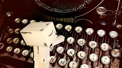 Your life is a masterpiece to be written. (karmenbizet73) Tags: art typewriter toys photography flickr toystory random antique your write masterpiece photooftheday eyespy underwood danbo 184365 liveeveryday danboard photodevelopment danbolove toysunderthebed 2015365photos