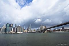 Manhattan from Brooklyn Bridge Park (doveoggi) Tags: newyorkcity bridge newyork brooklyn skyscrapers manhattan brooklynbridge eastriver 8677
