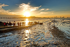 Sunset at Lau Fau Shan, Hong Kong (johnlsl) Tags: sunset hongkong landscapes   laufaushan