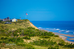 American Flag High Above Marconi Beach (Dapixara) Tags: capecod wellfleet americanflaghighabovemarconibeachdapixaraphotography