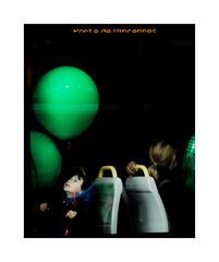 Génèse (hélène chantemerle) Tags: photosderue rue urbain tramway enfant ballon vert passagers streetphoto child woman balloon green genesis paris