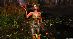 SWANK March 01: In The Land Of Gods & Monsters (Hanna Luna Naimarc: MVD♛ 2016 & MVW♛ Chile 20) Tags: new evil garden sin irrisistible swank event beauty eve snake apples fantasy roleplay nature leafs colors fashion costume lifestyle paradise lanadelrey lyrics ropico tropico