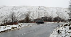 Jaguar in the fells....wildlife eh. (Dave Russell (1.5 million views thanks)) Tags: jaguar xtype x type estate car vehicle transport string road hills hill mountain isle island arran clyde scotland outdoor snow snowing fell fells
