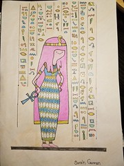 Egyptian version of Princess Bubblegum (sarahgorman) Tags: drawing adventuretime princessbubblegum egyptian egyptianartwork hieroglyphics cartoon ahnk final