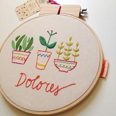 Dolores (Carol Grilo • FofysFactory®) Tags: quadrinho bastidor hoop bordado embroidery embroideryart handmade craft brasil carolgrilo fofysfactory decor decoração jardim garden plant plantas