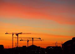 Morning (samikahkonen) Tags: helsinki finland suomi february helmikuu crane morning sun sunrise aamu city urban nordic scandinavia kalasatama