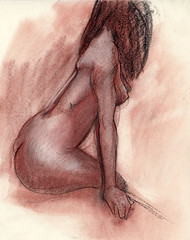 Copy of an unknown artist (thyyythiii) Tags: charcoal sanguine figuredrawing chalk