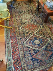 "LATE 19TH CENTURY CAUCASIAN SHIRVAN KELLY SIZE CARPET, 5 BY 10 FEET. • <a style=""font-size:0.8em;"" href=""http://www.flickr.com/photos/51721355@N02/33324303952/"" target=""_blank"">View on Flickr</a>"