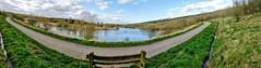 Horseshoe lake Panoramic (eucharisto deo) Tags: sence valley park leicestershire panoramic panorama