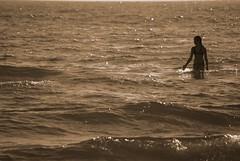 Summer - Lake Michigan (MattsLens) Tags: summer sun lake beach wet water girl sunshine swimming walking model warm waves michigan horizon sunny lakemichigan shore shallow westmichigan