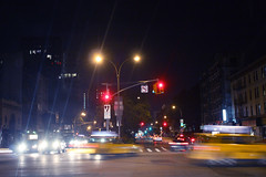 A night in New York (fahid chowdhury) Tags: street new york nyc newyorkcity light ny car night downtown taxi rush