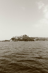 sepia castle of baia (giftofafriend) Tags: sea summer sky italy castle love water sepia ancient italia di napoli naples castello pozzuoli seppia baia