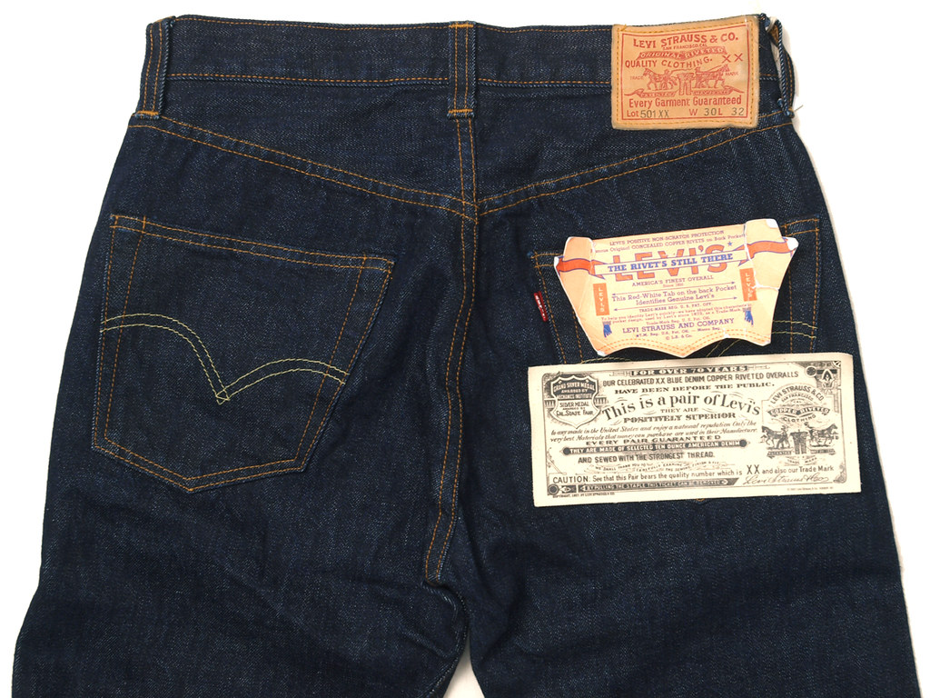 52e27d65 Levi's for J.Crew / LVC 501XX 1947 Selvedge Rinse Washed Jean (yymkw)
