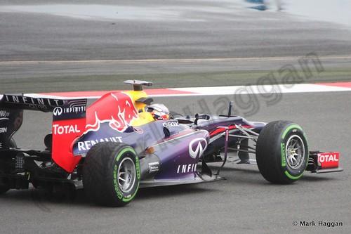 Sebastian Vettel in Free Practice 2 at the 2013 British Grand Prix