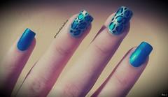 Nail Art: Unhas Gêmeas (A Garota Esmaltada) Tags: blue azul nails nailpolish bruna unhas nailart oncinha animalprint esmaltes unhasdecoradas unhasartisticas unhasgêmeas agarotaesmaltada