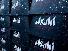 พิมพ์โลโก้ บนฐานทาวน์เวอร์เบียร์ Asahi