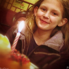 Birthday Elf. (RichTatum) Tags: birthday childhood washington candle child rich celebration bellingham buffet iphone tatum unitedstated blogrodent richtatum iphoneography