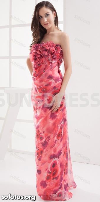 Vestido de festa florido