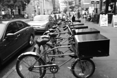 (SGT_SP/CorySargeant) Tags: blackwhite downtownbrooklyn flickrandroidapp:filter=none montydeliverybikes