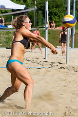Great Beach Volleyball Pass by female volleyball player