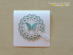 Baby Shower Invitations (RejoicingCrafts) Tags: pink blue baby butterfly cards martha handmade mint punch deco doily babyshower stampinup papergoods