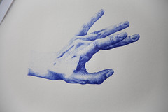 process fingers (siteless) Tags: blue start hand time drawing finish process biro bic processofdrawing