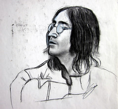 "John Lennon charcoal3 • <a style=""font-size:0.8em;"" href=""https://www.flickr.com/photos/78624443@N00/9758476564/"" target=""_blank"">View on Flickr</a>"