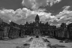 Gods and clouds (Massimo Palma) Tags: blackandwhite clouds angkor blinkagain blinksuperstars