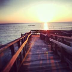 #sunset #kiptopeke #easternshore (i threw a guitar at him.) Tags: statepark sunset sun beach water square bay virginia fishing easternshore shore va squareformat nets chesepeake iphoneography