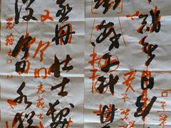 Plenty of corrections (seikinsou) Tags: autumn brussels orange belgium belgique bruxelles teacher practice calligraphy sensei correction