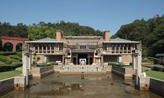 MAIN ENTRANCE HALL AND LOBBY, INPERIAL HOTEL: Frank Lloyd Wright, Inuyama Aichi, Aug. 1923 (wakiiii) Tags: