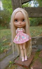 Melanie in her new dress