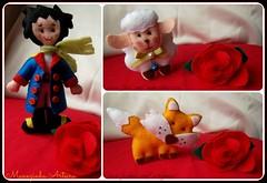 O Pequeno Prncipe (Manezinha Arteira) Tags: boneco o rosa prncipe pequeno ovelha raposa vision:food=0604 vision:text=0785