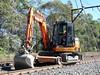 road/rail excavator (sth475) Tags: railroad plant spring machine railway bluemountains nsw hitachi excavator roadrail mainwest zaxis60usb 19088d