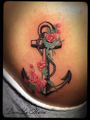 Tattoo Rose Anchor (dariolamarcaink) Tags: old school rose tattoo anchor ancora àncora