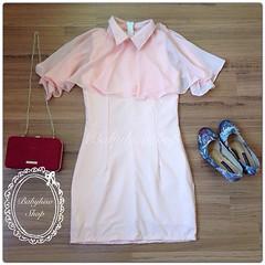#InstaFrame มาแล้วๆกับเสื้อผ้าสวยๆคุณภาพดีสุดจ้า DJ Kat KlothezBB176 Peach Dress  Price: 490- (Free EMS Shipping)  Size: M อก : 32-34 เอว : 25-26 สะโพก 34-36 ความยาว : 32  Fabric : ไหมอิตาลี/ชีฟอง  Detail : ชุดเดรสสั้น งานตัดผ้าไหมอิตาลีเนื้อหนา ผ้าสวยมาก