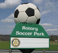 Sign Message Board | Signarama | Rotary Soccer Ball