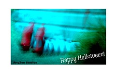 Happy Halloween! (MY PINK SOAPBOX) Tags: red abstract rot halloween dorothy rouge rojo nikon bokeh witch evil peliculas movies popculture abstracto astratto rosso rubyslippers thewizardofoz bruja rodo abstrait blueandgreen parkride redslippers zapatosrojos witchoftheeast elmagodeoz licensingart anahidecanio artyzenstudios halloweenlicensingart halloweenpopculture