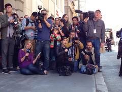 The press (bhautik_joshi) Tags: sf sanfrancisco downtown financialdistrict batman miles gotham sfist makeawish batkid uploaded:by=flickrmobile flickriosapp:filter=nofilter sfbatkid