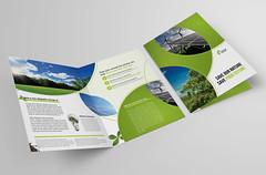 Bi-fold Brochure 39 (Demorfoza) Tags: money green ecology magazine print design energy peace graphic wind ad free half fold leaflet brochure eco bi template pamphlet bifold halffold