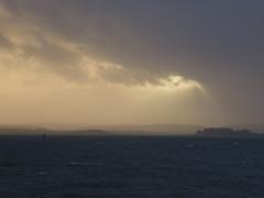 Stormy Monday 6/365 (dawn.v) Tags: uk sea england rain weather clouds whatevertheweather coast horizon january windy stormy rainy dorset poole rayoflight blustery 6365 365days winterstorms ukstorm 365daysproject ukstorms lumixtz25 365daysin2014