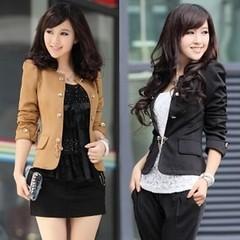 เสื้อสูทผู้หญิง แฟชั่นเกาหลี Slim LotusNoss Suit นำเข้า ไซส์L/XL - พร้อมส่งSJ1189 ราคา1100บาท เสื้อสูทผู้หญิง เข้ารูปแบบดารา Slim Thin Jacket ที่นำเข้าโดยร้าน LotusNoss เป็นแบบที่ Hit และ Popular มากแนวโรแมนติกเป็นแฟชั่นโปรดของสาวเซเลบระดับนานาชาติ เลือก